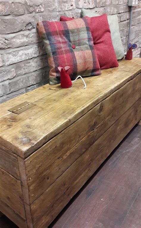 reclaimed wood hallway bench hall storage box seat shoe