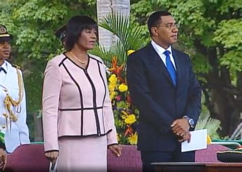portia simpson miller house andrew michael holness sworn in as prime minister of