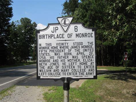 james monroe s house james monroe birthplace westmoreland county virginia