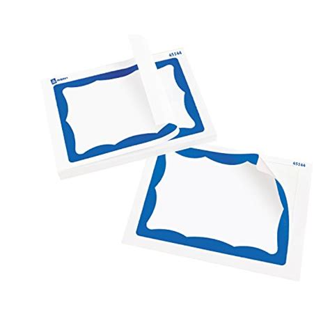 avery template 5144 avery print or write name badge labels with blue border 2