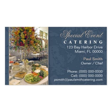 catering card template catering business card zazzle