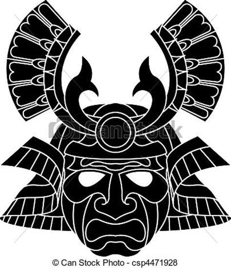 Sticker Set Helm Robot Line V1 vector of monochrome samurai mask an illustration of a