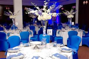 blue decorations royal blue wedding reception ideas pictures to pin on
