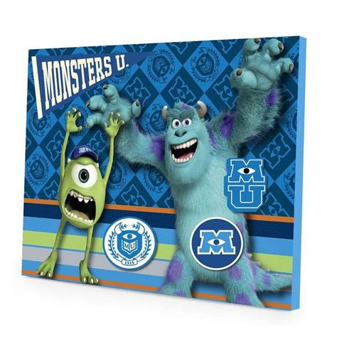 Monsters Inc Wall Decor by Disney Pixar Monsters Magnetic Wall