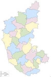 Karnataka Outline Map by Blank Map Karnataka Districts