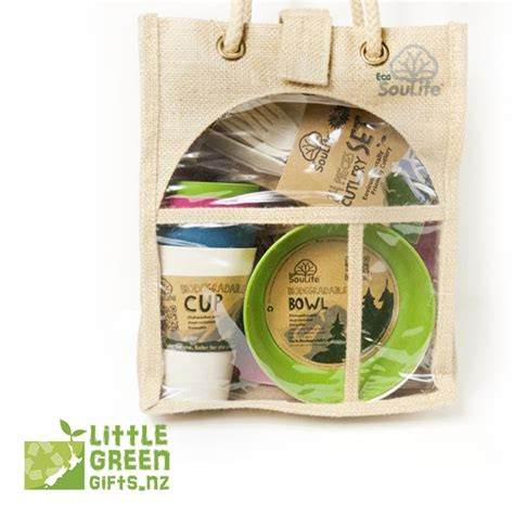 Eco Pregnancy Gift Set by Eco Friendly 4 Person Picnic Gift Set Green Gifts