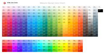 color chart material design color chart html color codes