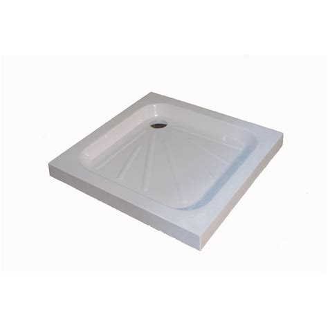 shower tray standard stone resin shower tray 610x610mm only 163 65 99