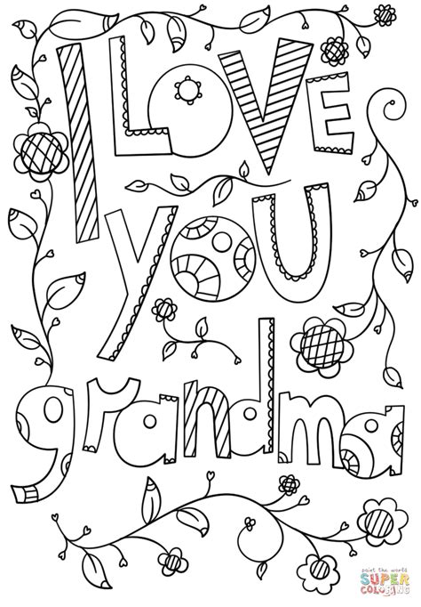printable coloring pages for grandma coloring pages love coloring sheets tryonshorts coloring