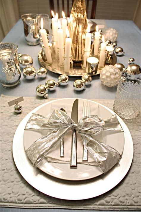 Silver Table Decorations by 32 Original Winter Table D 233 Cor Ideas Digsdigs