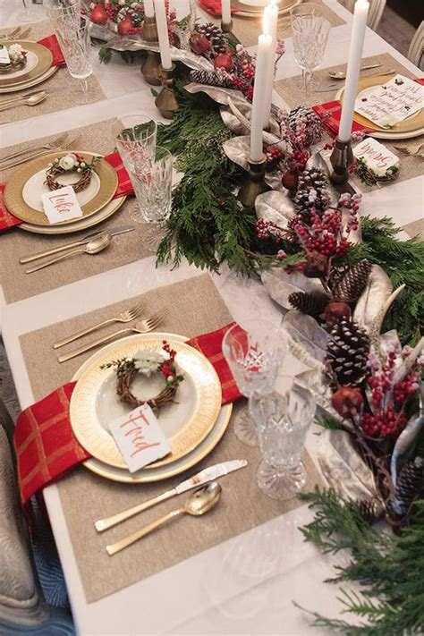 traditional christmas table setting ideas homemydesign