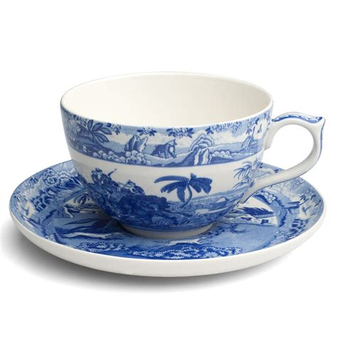 spode blue room jumbo cup and saucer spode blue room indian sporting jumbo cup saucer