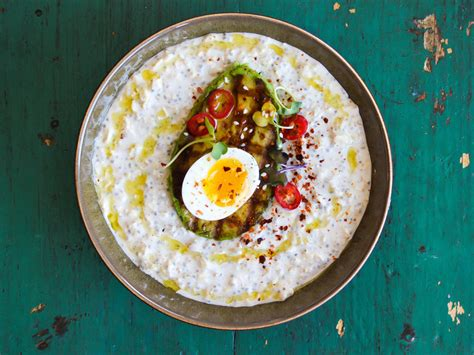 cooking light overnight oats grilled avocado and chili spiced egg overnight oats recipe