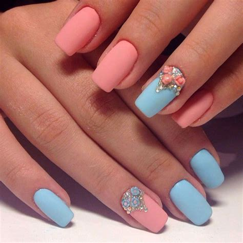 two colors nail design creative - 2 Color Nail
