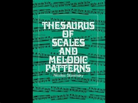 No Pattern Thesaurus | slonimsky pattern no 181 from the thesaurus of scales and