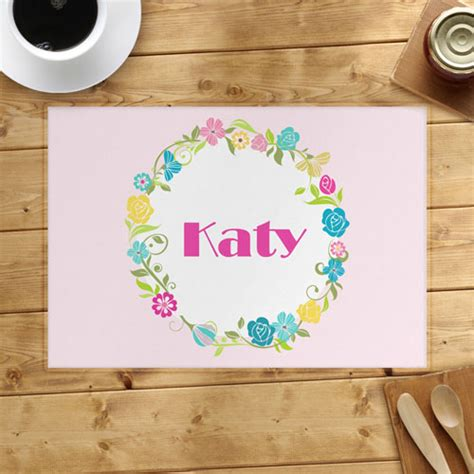 Personalized Table Mats by Floral Personalized Placemat