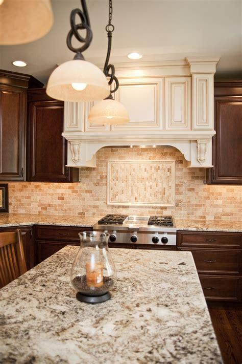 Backsplash With Marble Countertops by Il Kitchen Remodel Travertine Backsplash And