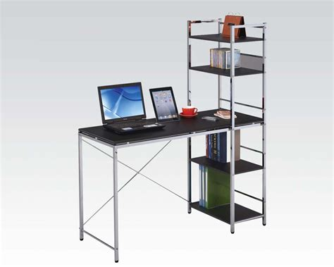 computer desks with shelves computer desk w shelves by acme furniture ac92074