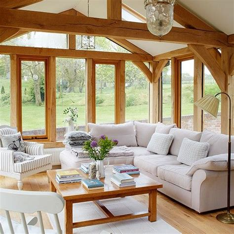 country home interior living room with stunning garden views living room