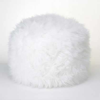 white faux fur ottoman wholesale fuzzy faux fur footstool white ottoman