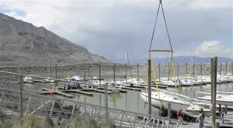 lowe boats utah boats lifted from utah s famous great salt lake water