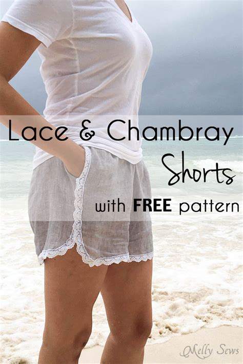 Lace Shorts trimmed with lace shorts sew shorts with free pattern