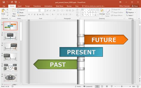 animated past present future diagrams for powerpoint