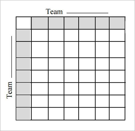 100 Square Pool Template