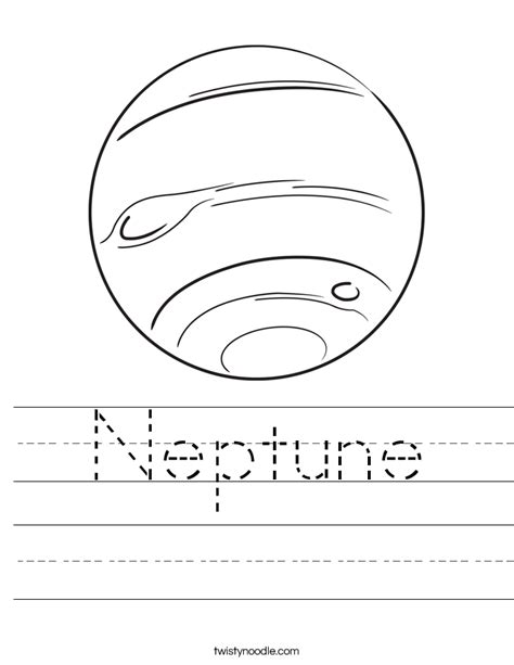 printable pictures neptune neptune worksheet twisty noodle