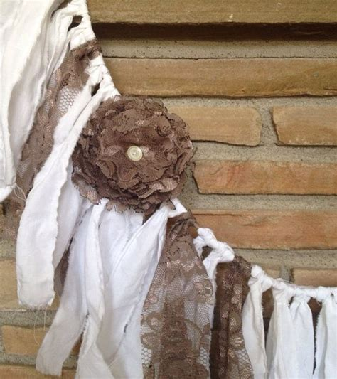 rustic wedding garland shabby chic decor vintage wedding decor