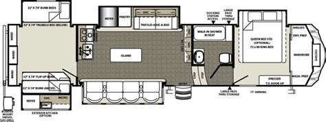 forest river fifth wheel floor plans fifth wheels by forest river rv cer floor plans wheels forest river
