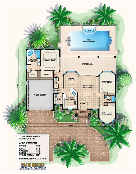villa plans mediterranean house plan 1 story small home floor plan