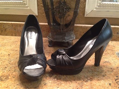 comfortable heels for wide feet letgo black peep toe heels great f in bridge city tx