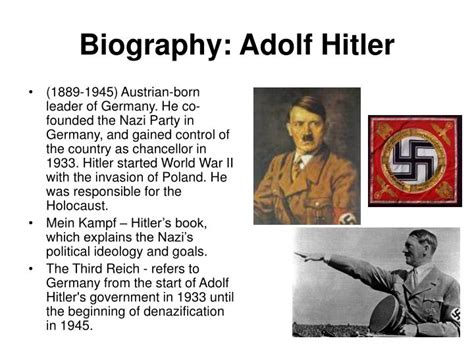 hitler biography mp3 ppt adolf hitler powerpoint presentation free to