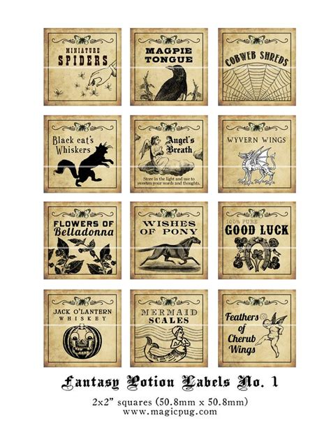 potion label template harry potter potions labels free printables