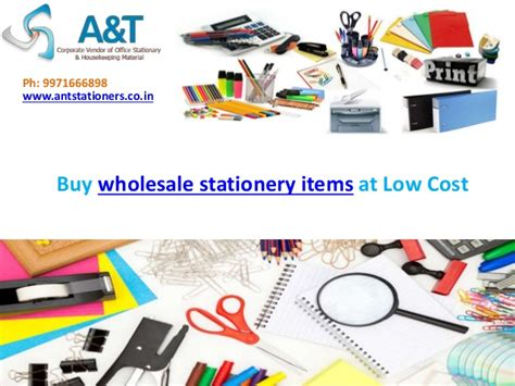 buy wholesale stationery items at low cost