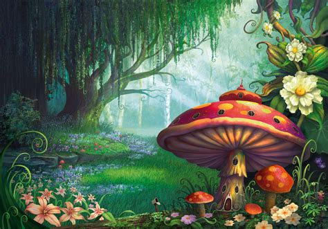 Enchanted Forest Wall Mural enchanted forest wallpaper mural by philip straub