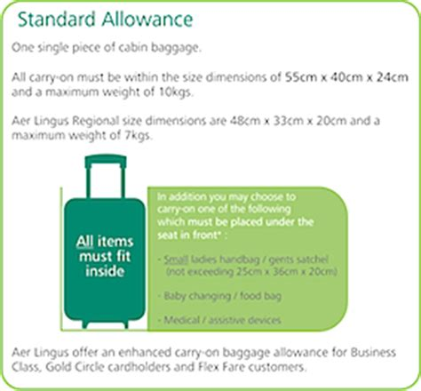 Aer Lingus Regional Cabin Baggage by New Aer Lingus Cabin Baggage Allowances Ittn