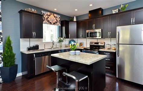 dark cabinets light countertops dark kitchen cabinets with light granite dark cabinets