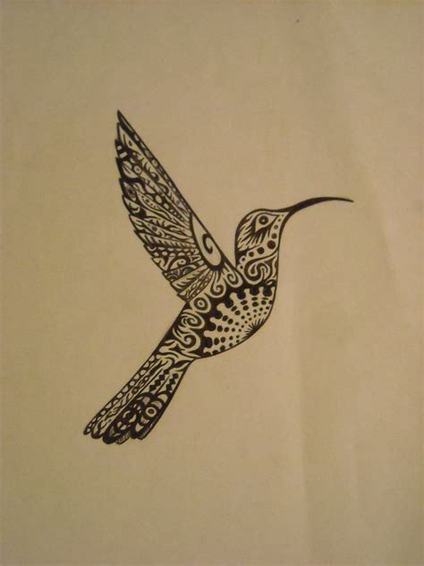 hummingbird tribal tattoo designs tribal hummingbird design by a wilson rt on deviantart