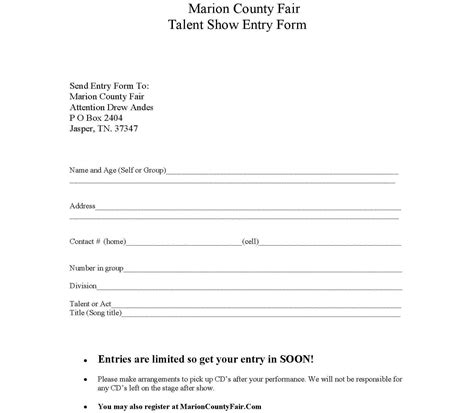 talent show sign up sheet quotes