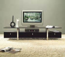 tv media furniture modern clear lined design contemporary brown color tv stand with