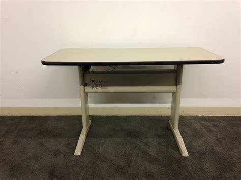 used adjustable height desk used office desks teknion adjustable height table desk