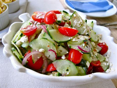 salad recipes jenny steffens hobick cucumber tomato feta salad recipe