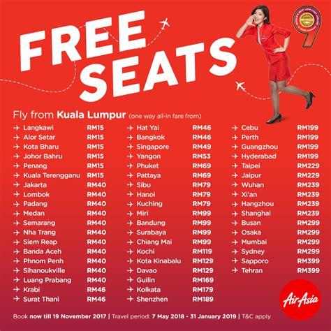 airasia flight promotion airasia free seats promo ticket price list booking until