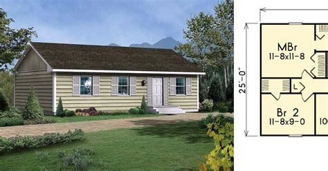 6 well designed tiny ranch home floor plans for