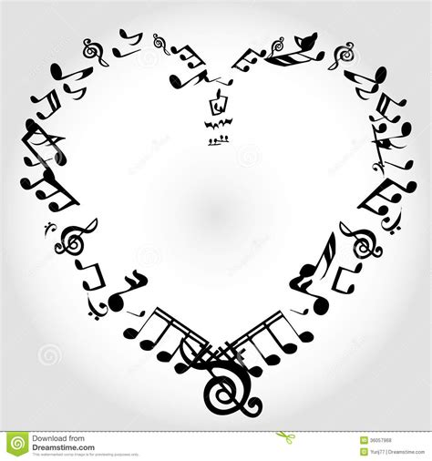 Hearts Wall Stickers 16 heart music note vector images music notes hearts