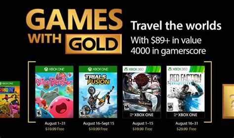 xbox with gold august 2017 revealed trials fusion