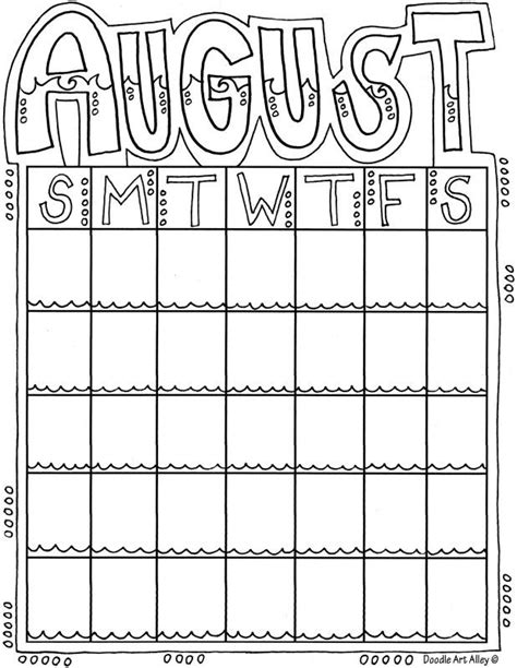 printable calendar in color 12 best month coloring images on pinterest monthly