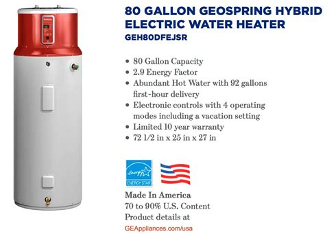 80 gallon water heater why should you consider the ge geospring hybrid review